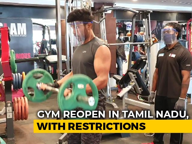 Video : With Face Shields On, Chennai Residents Hit The Gym After Over 4 Months