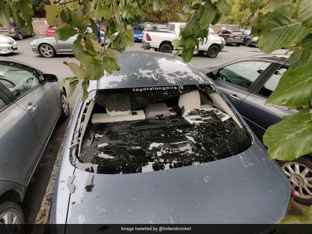 Irelands Kevin OBrien Smashes His Own Car Window With Massive Six