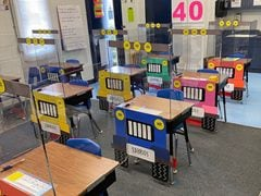 Florida Teachers Turn Their Students' Desks Into Little Jeeps To Make Social Distancing Less Scary
