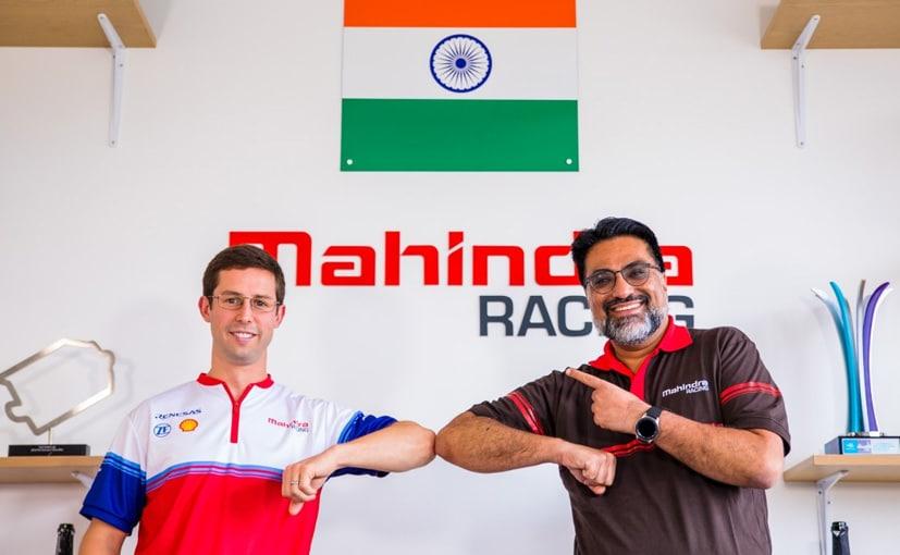 Driver Alexander Sims with Dilbagh Gill, CEO and Team Principal, Mahindra Racing