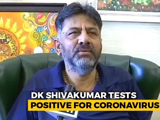 Video : Karnataka Congress Chief DK Shivakumar Tests Covid Positive, Hospitalised