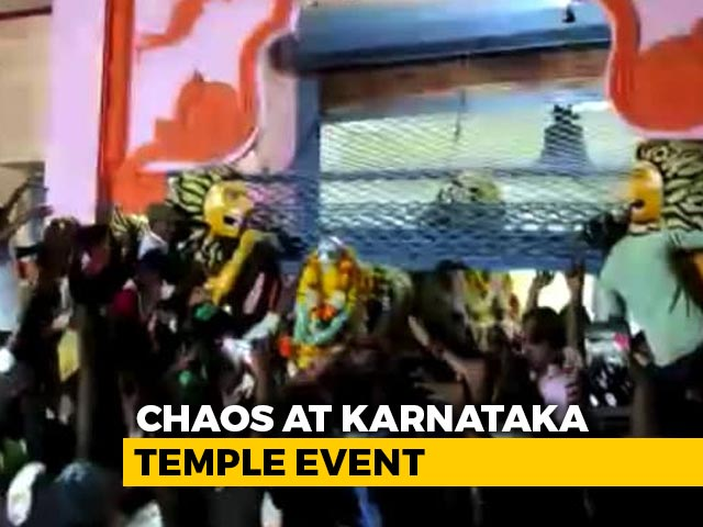 Video : Chaos At Karnataka Temple Event, 50 Arrested, Most Run Away From Village