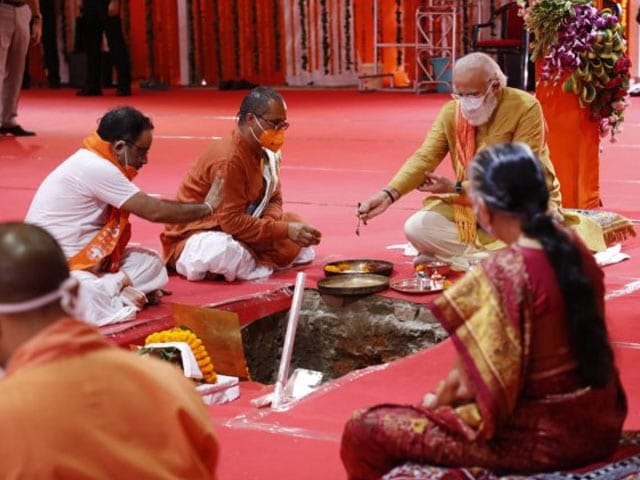 Video : PM Joins Rituals For Grand Ram Temple Ceremony