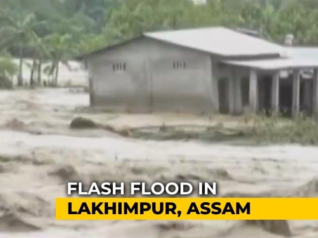 Video : Flash Floods In Assam's Lakhimpur, Dhemaji Districts Leave 30,000 Affected