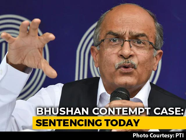 Video : In Prashant Bhushan Contempt Case, Top Court Sentencing Today