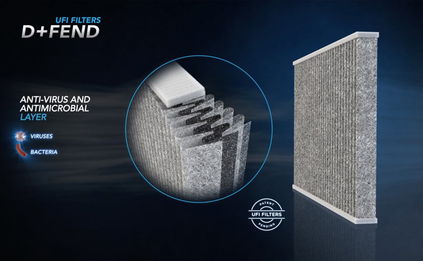 The new car cabin air-filter filters particles of diameter of 0.3 macrons.
