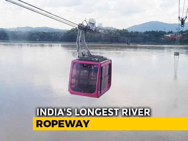 Video : India's Longest River Ropeway Over Brahmaputra Opens In Guwahati