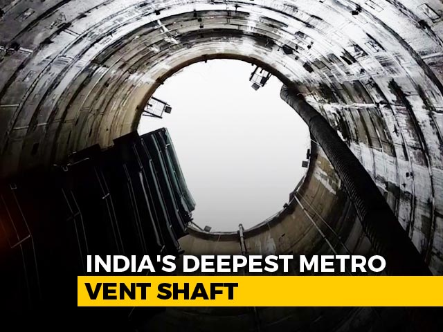 Video : Amid COVID-19 Pandemic, India's Deepest Metro Vent Shaft Completed In Kolkata | NDTV Beeps