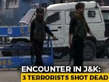 Video : Cop Killed In Action, 3 Terrorists Shot Dead In Encounter In J&K