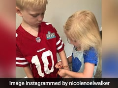 America's Bravest 6-Year-Old Gets A Rakhi From Younger Sister. See Pic