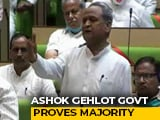 "Video : ""United"" Ashok Gehlot Government Wins Rajasthan Trust Vote"