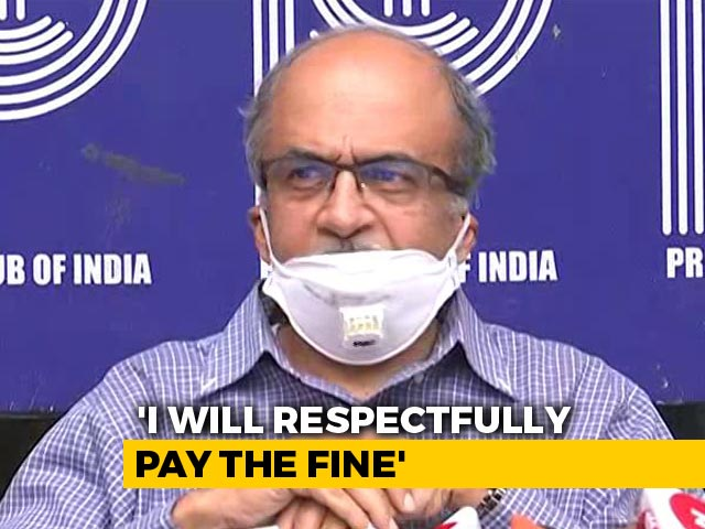 "Video : ""Will Respectfully Pay Re. 1 Fine"": Prashant Bhushan After Top Court Order"