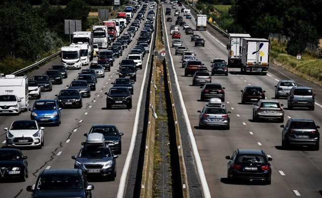 Record Level Of Traffic Jams In France Amid Heatwave