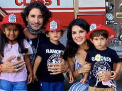 Sunny Leone's Kids Met Fire-Fighters, Took This Pic