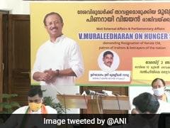 सोना तस्करी केस के खिलाफ भूख हड़ताल बैठे केंद्रीय मंत्री, केरल सीएम के इस्तीफे की मांग