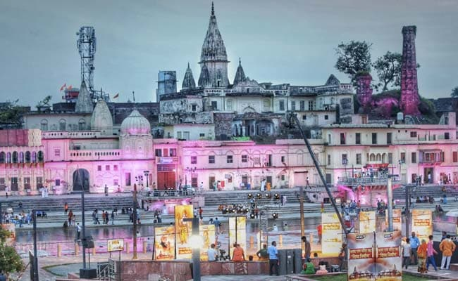 Pics: Ayodhya Is A Riot Of Colours In Preps For Ram Temple Ceremony Today