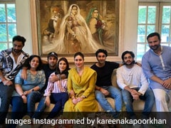 "Kareena Kapoor Keeps It Chic In A Mustard Kurta-Set For ""Family Lunch"""