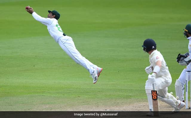 England v Pakistan: Asad Shafiq takes diving catch to remove Dom Bess Watch video