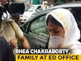 Video : Rhea Chakraborty, Family At Probe Agency For Round 2 Of Questioning