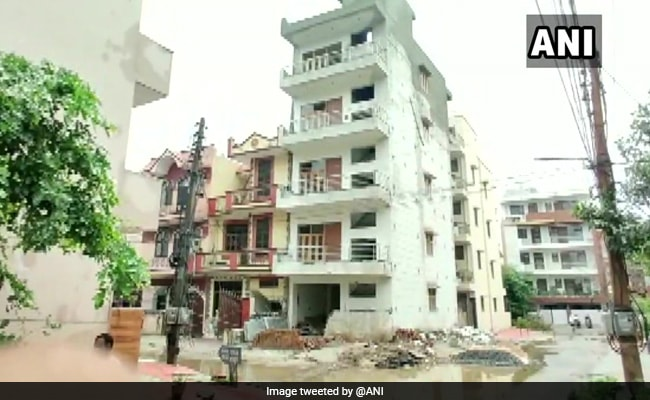 Residents Moved Out After Gurgaon Building Tilts Due To Heavy Rain