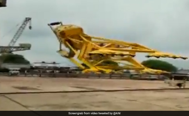 9 Killed After Massive Crane Collapses At Visakhapatnam Shipyard