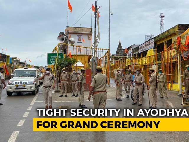 Video: Tight Security At Ayodhya's Hanumangarhi Temple Ahead Of PM's Visit