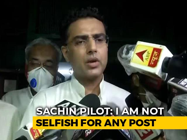 """Video : """"Issues Were Ideological, Was Important To Raise Them,"""" Says Sachin Pilot"""