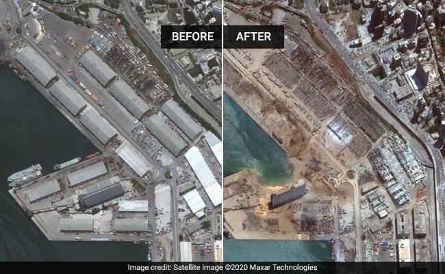 लेबनान विस्फोट में 100 से ज्यादा मौतें, इन तस्वीरों में देखेंबेरुत कीतबाही का मंजर