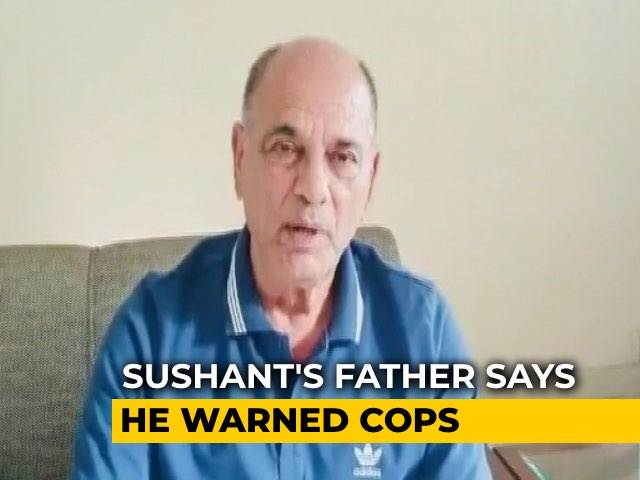 Video: Sushant Singh Rajput's Father Claims He Warned Mumbai Cops