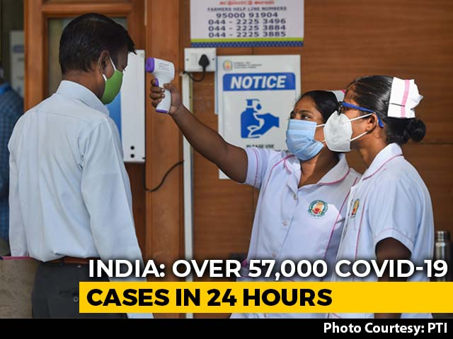 Video : Over 57,000 Covid Cases In 24 Hours For 1st Time, 10.94 Lakh Recoveries