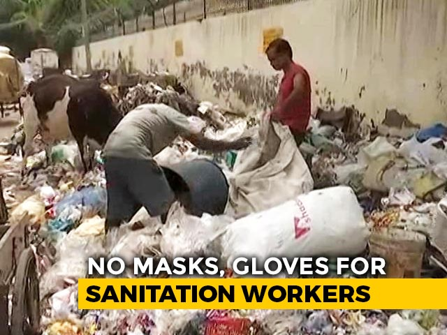 "Video : ""No Protection From Virus"", Claim Sanitation Workers In East Delhi"