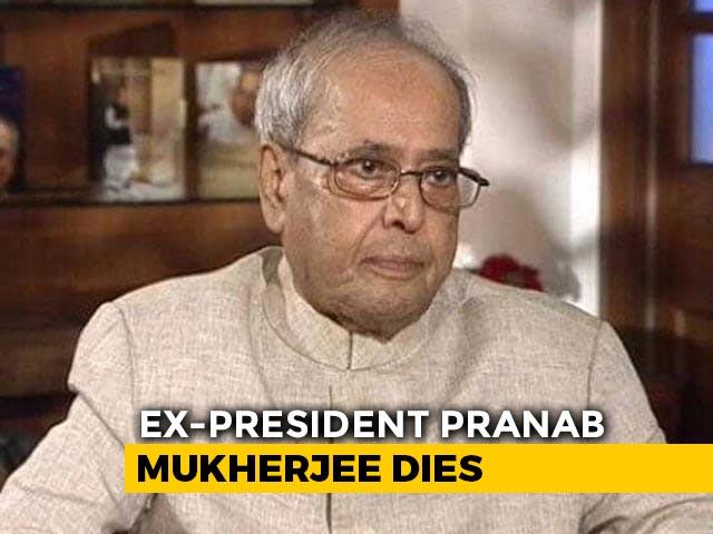 Video : Former President Pranab Mukherjee Dies At 84