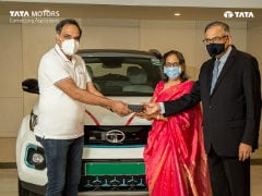 N Chandrasekaran, Chairman, Tata Sons And Tata Motors, Takes Delivery Of Tata Nexon EV