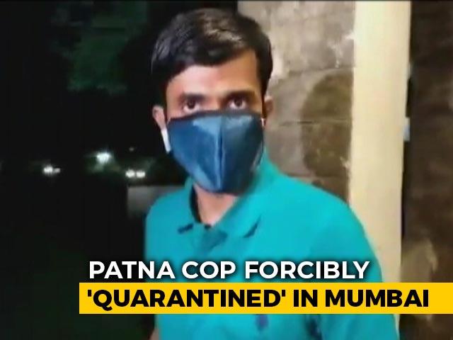 "Video : Senior Cop Probing Sushant Rajput Case ""Forcibly Quarantined"" In Mumbai"