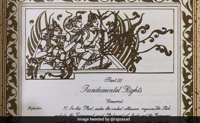 Ram Mandir Bhoomi Pujan: An Ayodhya Link To Constitution's Original Document, Law Minister Tweets