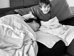 "Arjun Rampal Shares Adorable Pics Of ""Snuggle Bunnies"" Gabriella Demetriades And Arik"