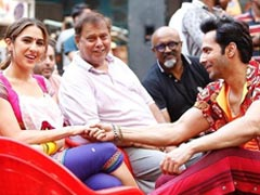 Trending: BTS Pic Of Varun Dhawan And Sara Ali Khan From The Sets Of <I>Coolie No 1</I>