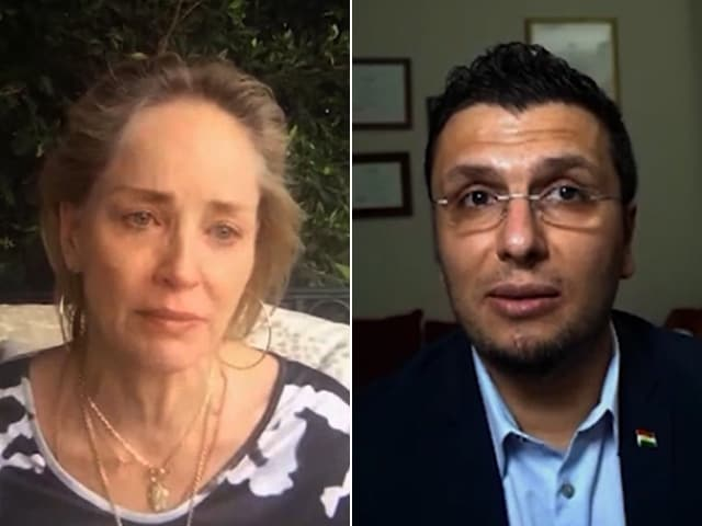 Video : Actor-Activist Sharon Stone Speaks To Syrian Award-Winning Doctor