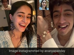 "Ananya Panday Celebrates ""Virtual Rakhi"" With Brother Ahaan In A Powder Blue Suit"