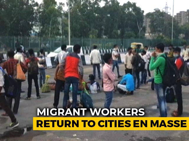 Video : No Work At Home, Migrant Workers Return To Cities