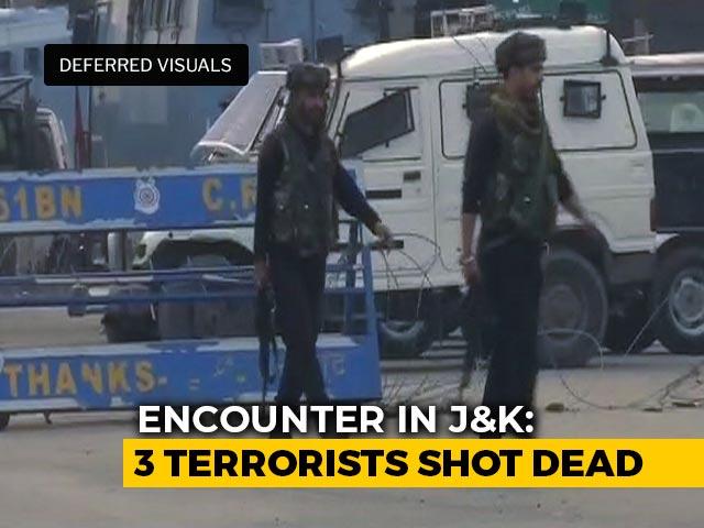 Video : Cop Killed In Action, 3 Terrorists Shot Dead In Encounter In J&K
