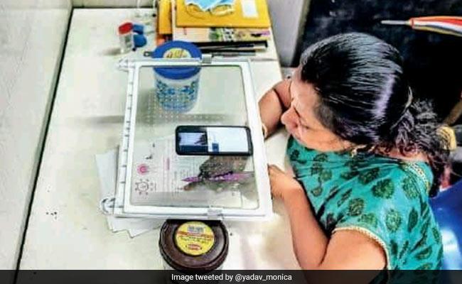 Teacher's 'Jugaad' For Online Class Using Refrigerator Tray Wins Praise