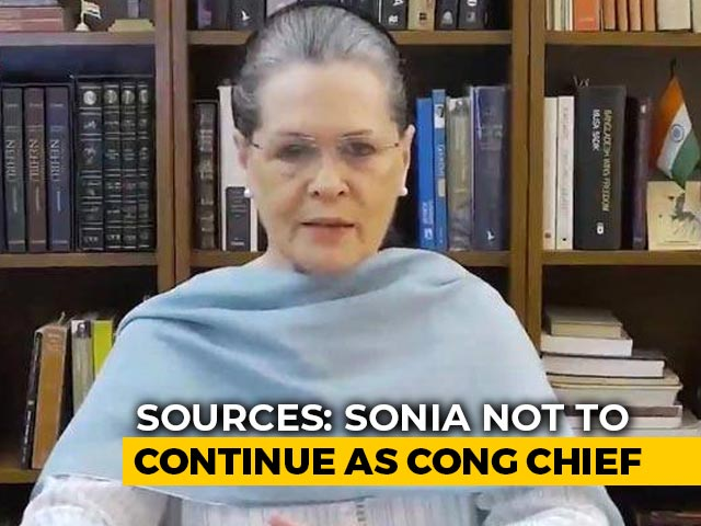 Video : Will Resign, Sonia Gandhi Tells Aides After Congress Letter Row