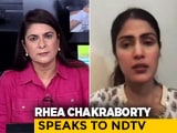 "Video : ""Don't Try To Destroy My Family"": Watch Rhea Chakraborty's Full Interview"