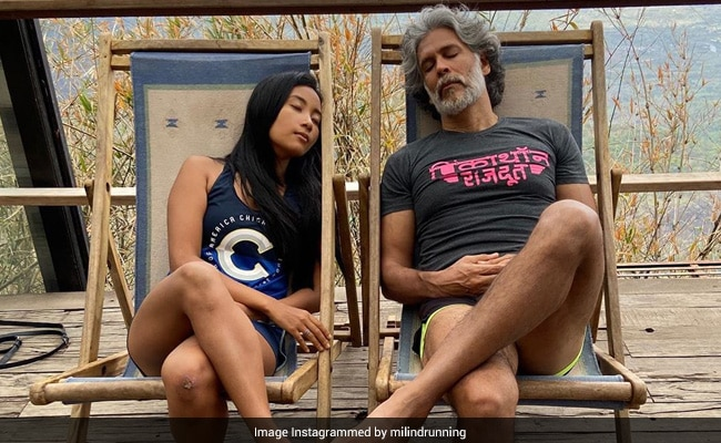 This Pic Sums Up Milind Soman And Wife Ankita Konwar's Friday Mood