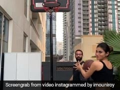 मौनी रॉय ने बास्केट में डाल दी बॉल, तो खुशी से लगीं कूदने, Video पोस्ट कर बोलीं- पहली बार...