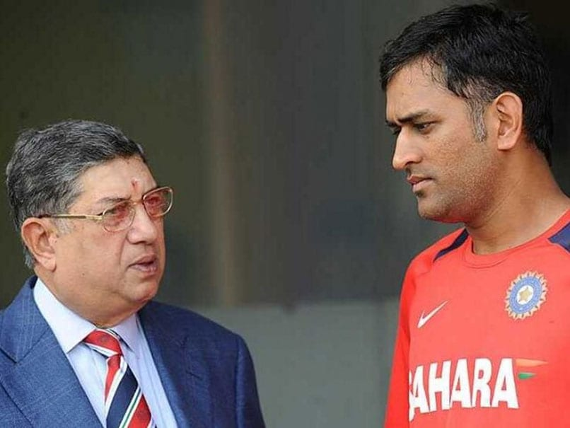 """""""Exercised All My Authority"""": N Srinivasan Claims He Saved MS Dhonis Captaincy In 2012"""