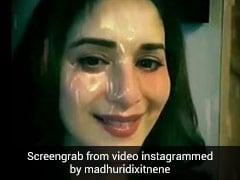 माधुरी दीक्षित ने 'कभी जो बादल बरसे' गाने पर यूं दिया एक्सप्रेशन, Video हुआ वायरल