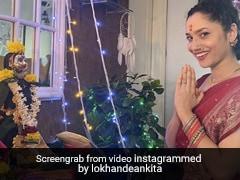 Ankita Lokhande ने की महालक्ष्मी पूजा, रेड साड़ी में यूं पारंपरिक अंदाज में दिखीं एक्ट्रेस- देखें Videos