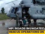 Video : Watch: Air Force Chopper Lifts People From Madhya Pradesh's Flooded Areas